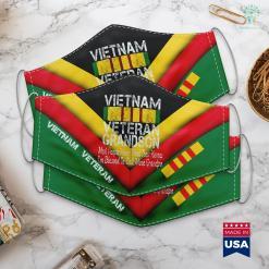 Monument Vietnam Us Military Family Vietnam Veteran Grandson Gift Face Mask Gift %tag familyloves.com