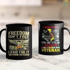 Name On The Wall Freedom Isnt Free I Paid For It - Vietnam Veteran 11Oz 15Oz Black Coffee Mug %tag familyloves.com