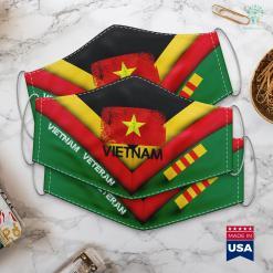 Names Vietnam Memorial Vietnamese Flag Vintage Made In Vietnam Gift Face Mask Gift %tag familyloves.com