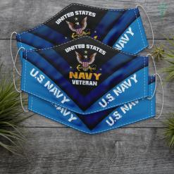Navy Tshirt United States Navy Veteran U.S Military Veteran Face Mask Gift %tag familyloves.com