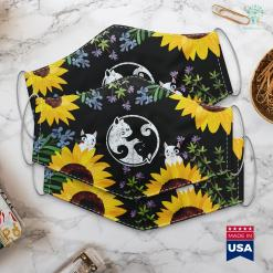 Personalized Cat Gifts Yin Yang Cats Cute Kawaii Cat Lover Yoga Gift Design Face Mask Gift %tag familyloves.com