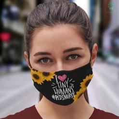 Presents For Nurses I Heart Tiny Humans Peds Nurse Face Mask Gift %tag familyloves.com