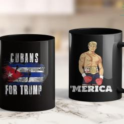 President Trump T Shirts Cubans For Trump - American And Cuba Patriotic 11oz Coffee Mug %tag familyloves.com