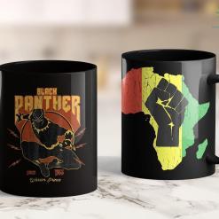 Seattle Black Lives Matter Marvel Black Panther Action Since 1966 Retro Vintage 11Oz 15Oz Black Mug %tag familyloves.com