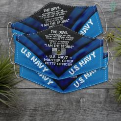 The Us Navy I Am The Storm Us Navy E9 Master Chief Petty Officer Gifts Face Mask Gift %tag familyloves.com