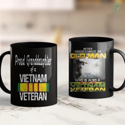 Thewall Usa Us Military Family - Proud Granddaughter A Vietnam Veteran 11Oz 15Oz Black Coffee Mug %tag familyloves.com