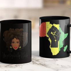 Three Black People Unapologetically Black Dope Magical Natural Hair 11Oz 15Oz Black Mug %tag familyloves.com