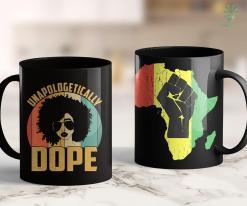 Three Black People Unapologetically Dope Black Pride Melanin African American 11Oz 15Oz Black Mug %tag familyloves.com
