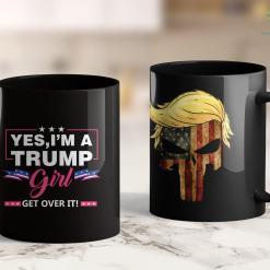 Trump 2020 Bandana Yes Im A Trump Girl Get Over It-Support Trump 2020 11oz Coffee Mug %tag familyloves.com