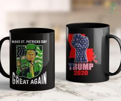 Trump 2020 Bill Make St Patrick Day Great Again Vintage Trump Drinking 11oz Coffee Mug %tag familyloves.com