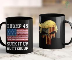 Trump 2020 Decal Trump 45 Suck It Up Buttercup Republican Men Women Gift 11oz Coffee Mug %tag familyloves.com