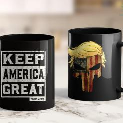 Trump 2020 Fabric Vintage White Quottrump 2020 Keep America Greatquot Trump 2020 11oz Coffee Mug %tag familyloves.com
