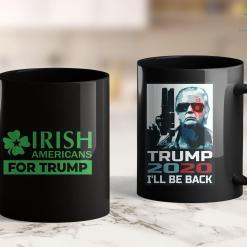 Trump 2020 Glasses Irish Americans For Trump For Men Women Kids 11oz Coffee Mug %tag familyloves.com