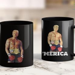 Trump 2020 Keep America Great Shirt Donald Trump Funny Rocky Boxing 2020 11oz Coffee Mug %tag familyloves.com