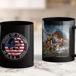 Trump 2020 Png 2 Sided Print Sons Of Trump Maga 2020 Retro Biker Skull 11oz Coffee Mug %tag familyloves.com
