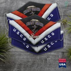 United State Coast Guard Coast Guard Aunt Face Mask Gift %tag familyloves.com