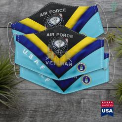 United States Birthday Veteran Us Air Force Usaf Vintage Gift Mens Face Mask Gift %tag familyloves.com
