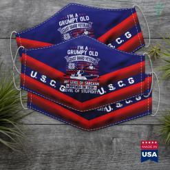 Us Coast Guard Jobs Mens Im A Grumpy Old Coast Guard Veteran Gift Face Mask Gift %tag familyloves.com