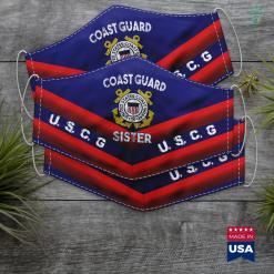Us Coast Guard San Diego Proud Us Coast Guard Sister Military Pride Face Mask Gift %tag familyloves.com