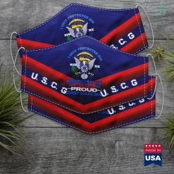 Us Coast Guard Ships Proud Coast Guard Dad I Once Protected Him Face Mask Gift %tag familyloves.com