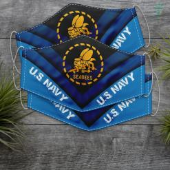 Us Navy Bracelet U.S. Navy Original Seabees Logo Navy Gift T Face Mask Gift %tag familyloves.com