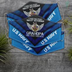 Us Navy Gifts I Am A Us Navy Veteran Grandpa And I Rock Them Both Funny Face Mask Gift %tag familyloves.com