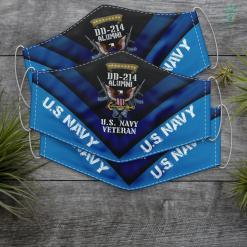 Us Navy Veteran Dd 214 Veteran Us Navy Alumni Us Navy Proud Veteran Face Mask Gift %tag familyloves.com