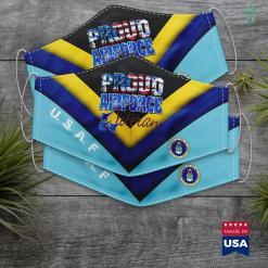 Usaf Headquarters Address Proud Air Force Veteran Usa Flag Men Women Face Mask Gift %tag familyloves.com