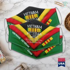 Va Pick Up Donation Retro Vietnam Veteran Wife Gift Face Mask Gift %tag familyloves.com