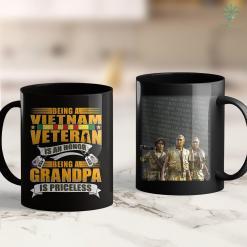Va Donations Mens Being A Vietnam Veteran Is An Honor Grandpa Is Priceless 11Oz 15Oz Black Coffee Mug %tag familyloves.com