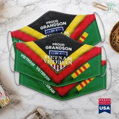 Veterans Memorial In Washington Dc Support Vietnam Veterans Grandson Military Tee Face Mask Gift %tag familyloves.com