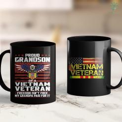 Veterans Administration Donations Proud Grandson Of A Vietnam Veteran Ribbon Patriotic Family 11Oz 15Oz Black Coffee Mug %tag familyloves.com