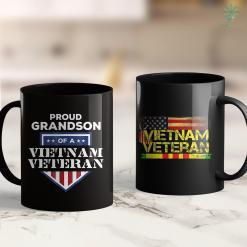 Veterans Memorial Wall Support Vietnam Veterans Grandson Military Tee 11Oz 15Oz Black Coffee Mug %tag familyloves.com