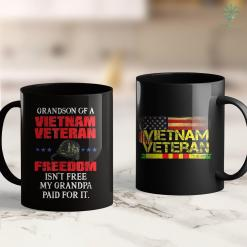 Vets Memorial Proud Army Veteran Grandson Of A Vietnam Veteran 11Oz 15Oz Black Coffee Mug %tag familyloves.com