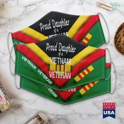 Vietnam Combat Veteran Hats Us Military Family Proud Daughter Of A Vietnam Veteran Face Mask Gift %tag familyloves.com