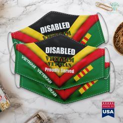 Vietnam Map During War Mens Disabled Vietnam Veteran Proudly Served Nam Vet Face Mask Gift %tag familyloves.com