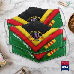 Vietnam Sava 1St Aviation Brigade Vietnam Veteran Golden Hawks Face Mask Gift %tag familyloves.com
