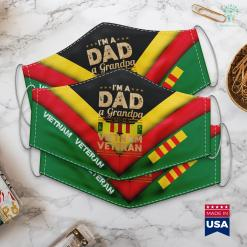 Vietnam Veterans By State Dad Grandpa Vietnam Veteran Vintage Mens Gift Face Mask Gift %tag familyloves.com