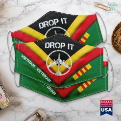 Vietnam Veterans Charity B 52 Bomber Drop It Vietnam War Protest Peace Symbol Face Mask Gift %tag familyloves.com