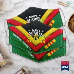 Vietnam War Information Proud Navy Seabee Vietnam Veteran Face Mask Gift %tag familyloves.com