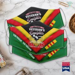 Vietnam War Memorial Dc Vietnam Veterans Daughter I Was Raised By Mine Face Mask Gift %tag familyloves.com