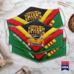 Vietnam War Veteran Mens Being A Vietnam Veteran Is An Honor Grandpa Is Priceless Face Mask Gift %tag familyloves.com
