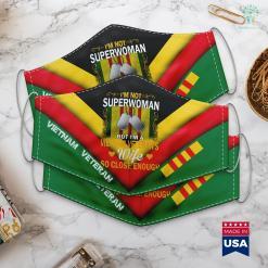 Vietnam War Vets Im Not Superwoman But Im A Vietnam Veterans Wife Face Mask Gift %tag familyloves.com