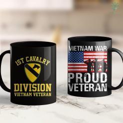 Vietnam Veterans 1St Cavalry Division Vietnam Veteran 11Oz 15Oz Black Coffee Mug %tag familyloves.com