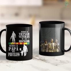 Vietnam Vets Of America Donation Mens Papa Vietnam Veteran -Being Vietnam Vet Is An Honor 11Oz 15Oz Black Coffee Mug %tag familyloves.com
