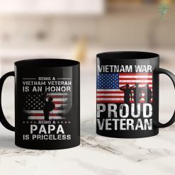Vietnam Wall Being Vietnam Veteran Is An Honor Papa S Veteran Gift 11Oz 15Oz Black Coffee Mug %tag familyloves.com