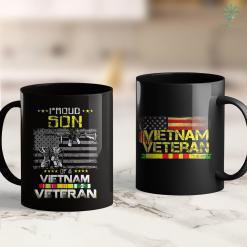 Vietnam War Memorial Proud Son Of A Vietnam Veteran Vietnam Vet Gift 11Oz 15Oz Black Coffee Mug %tag familyloves.com