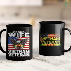 Vietnam War Veterans Proud Wife Of Vietnam Veteran Patriotic Military Spouse Gift 11Oz 15Oz Black Coffee Mug %tag familyloves.com