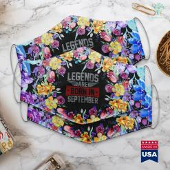 Virgo Bday Legends Are Born In September Vintage Gift Face Mask Gift %tag familyloves.com