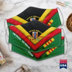 Vva 1St Signal Brigade Vietnam Veteran Face Mask Gift %tag familyloves.com
